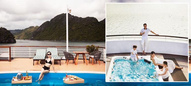 Bể bơi trên du thuyền Hạ Long