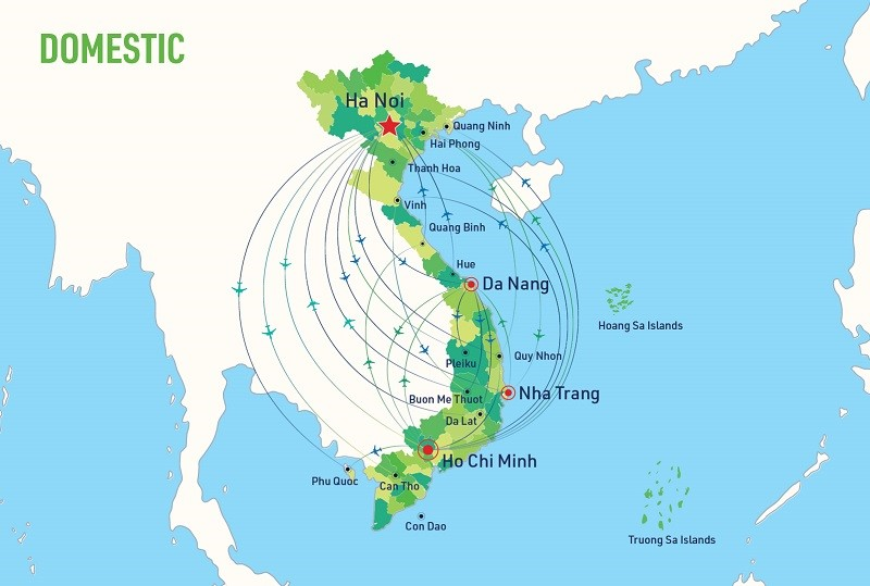 Đường bay nội địa của Bamboo Airways