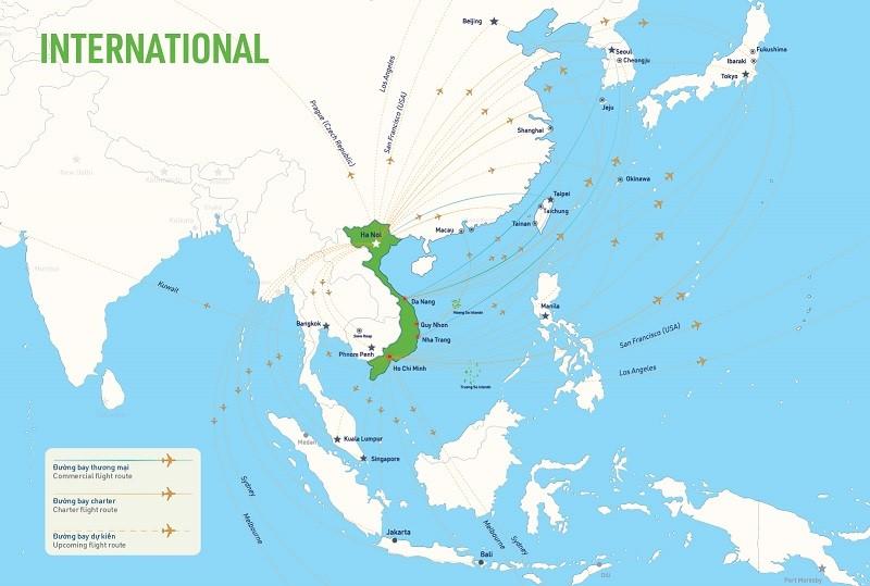 Đường bay quốc tế của Bamboo Airways