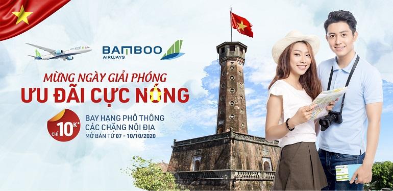Khuyến mại Bamboo Airways: Mừng ngày giải phóng - Ưu đãi cực nóng