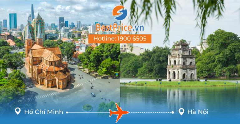 Vé máy bay giá rẻ từ Hồ Chí Minh đến Hà Nội