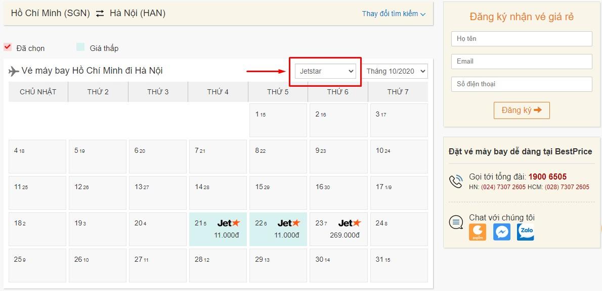 Săn vé đi Hà Nội hãng Pacific Airlines tại bestprice.vn