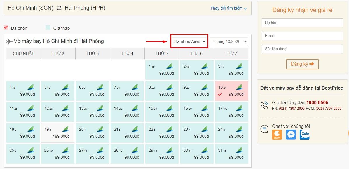 Săn vé đi Hải Phòng hãng Bamboo Airways tại bestprice.vn