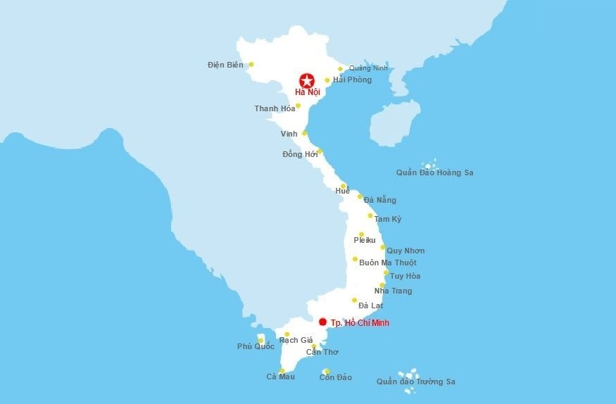 Đường bay nội địa Vietnam Airlines