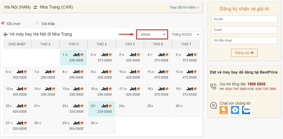 Săn vé đi Nha Trang hãng Jetstar tại bestprice.vn