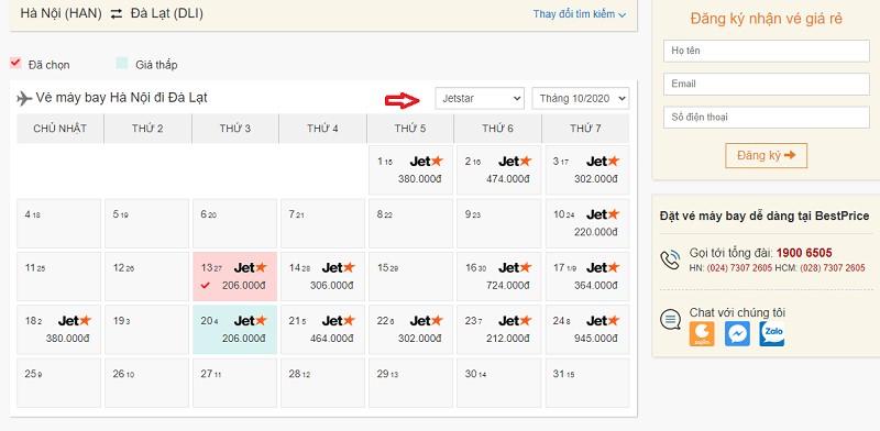 Săn vé đi Đà Lạt hãng Pacific Airlines (Jetstar) tại bestprice.vn
