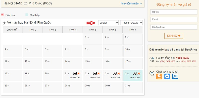 Săn vé đi Phú Quốc hãng Jetstar tại bestprice.vn