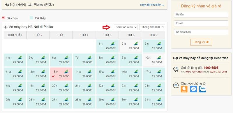 Săn vé đi Pleiku Bamboo Airways tại bestprice.vn