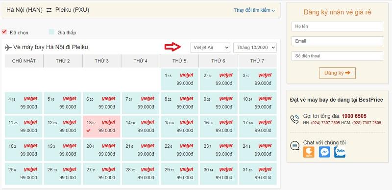 Săn vé đi Pleiku hãng Vietjet Air tại bestprice.vn