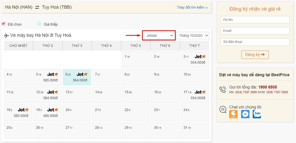 Săn vé đi Tuy Hòa hãng Pacific Airlines tại bestprice.vn