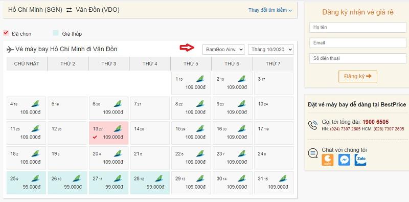 Săn vé đi Vân Đồn hãng Bamboo Airways tại bestprice.vn