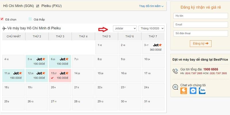 Săn vé máy bay Pacific Airlines đi Pleiku tại bestprice.vn
