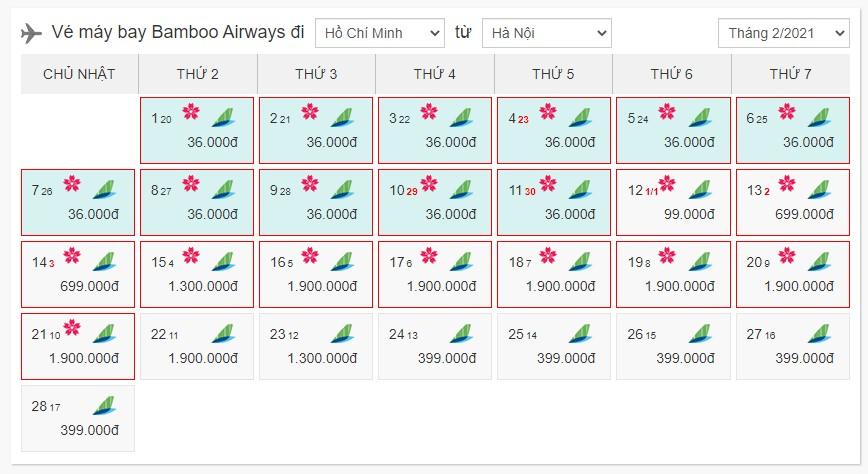 Book vé máy bay Tết hãng Bamboo Airways tại bestprice.vn