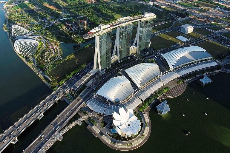 Singapore nhìn từ trên cao