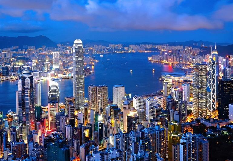 Hong Kong rực rỡ về đêm