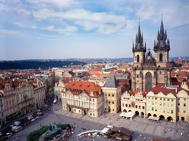 Quảng trường phố cổ Prague Séc