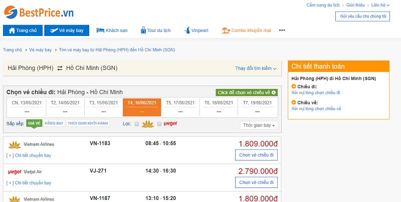 Vé máy bay đi Sài Gòn tháng 6