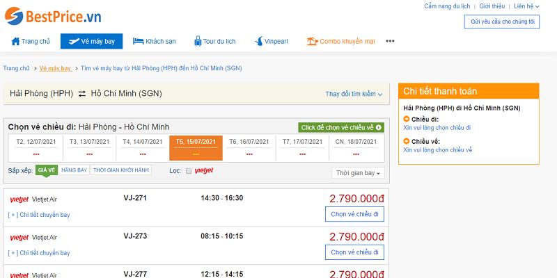 Vé máy bay đi Sài Gòn tháng 7