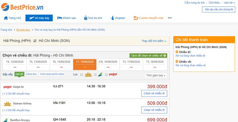 Vé máy bay đi Sài Gòn tháng 8