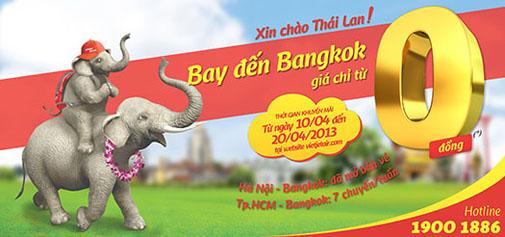 Săn vé máy bay giá rẻ đi Thái Lan theo chương trình khuyến mại của Vietjet Air