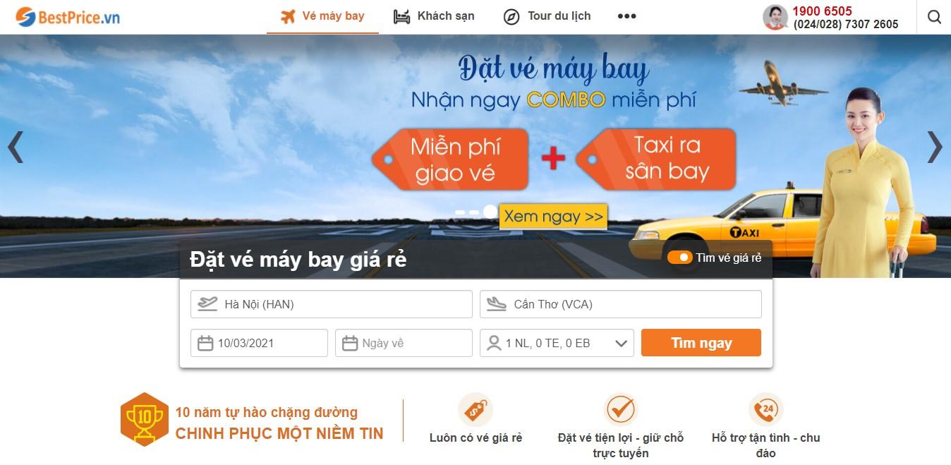 Săn vé máy bay giá rẻ đi Cần Thơ tại bestprice.vn