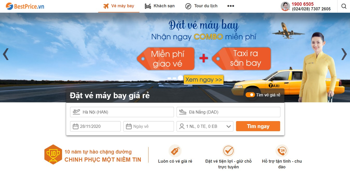 Đặt lịch bay đi Đà Nẵng tại BestPrice
