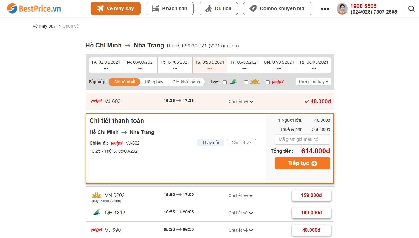 Săn vé máy bay giá rẻ đi Nha Trang tháng 3