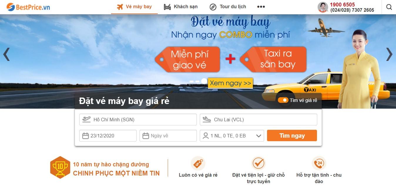 Đặt lịch bay Chu Lai tại BestPrice