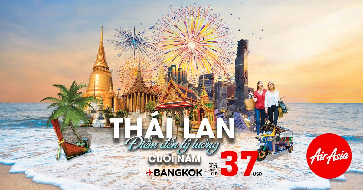 Săn vé đi Bangkok giá rẻ theo chương trình khuyến mại của hãng AirAsia