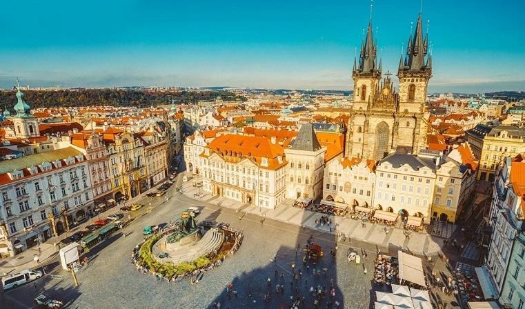 Quảng trường phố Old Town của Séc
