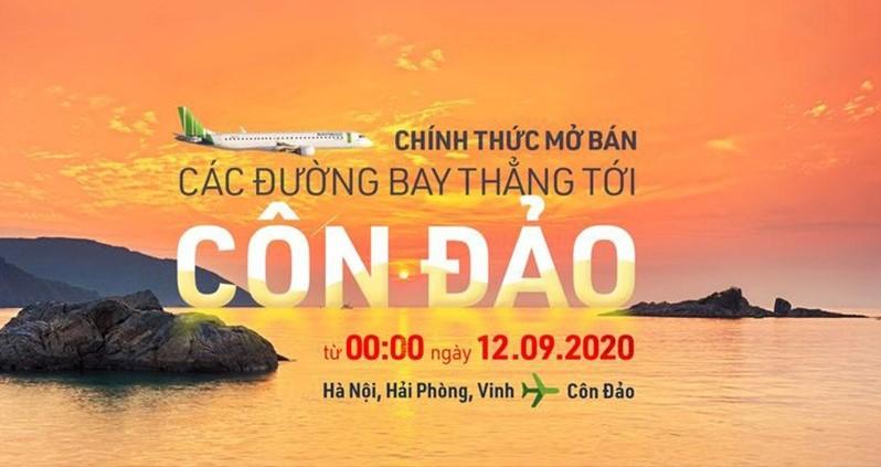 Bamboo Airways chính thức mở bán vé máy bay đi Côn Đảo