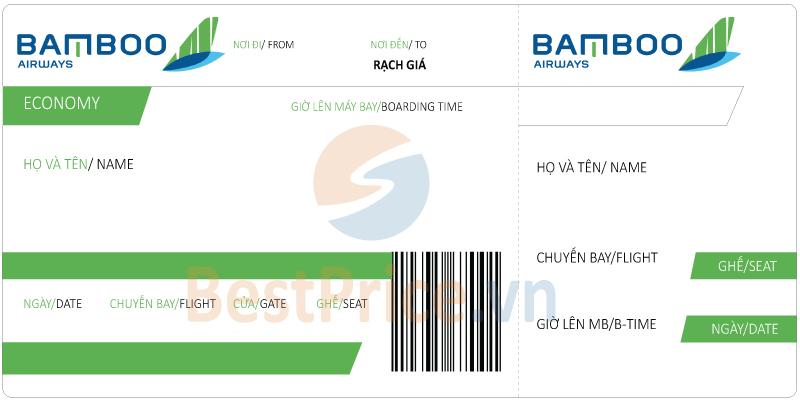 Vé máy bay Bamboo Airways đi Rạch Giá