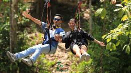 Vé trượt Zipline giữa rừng - Công viên thám hiểm Kong Forest