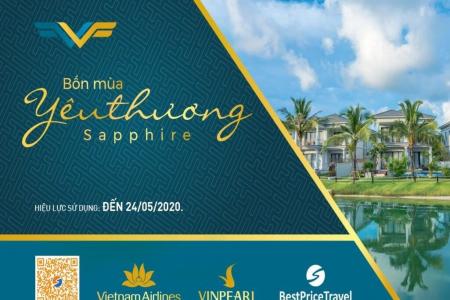 Voucher  Sapphire 3N2Đ: Phòng Vinpearl + Vé máy bay Vietnam Airlines+ Vé vui chơi