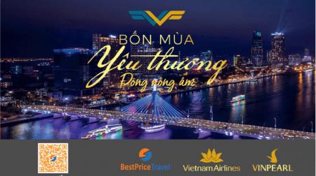 Voucher Đông Nồng Ấm 3N2Đ cho 2 người: Phòng Vinpearl + Vé máy bay Vietnam Airlines