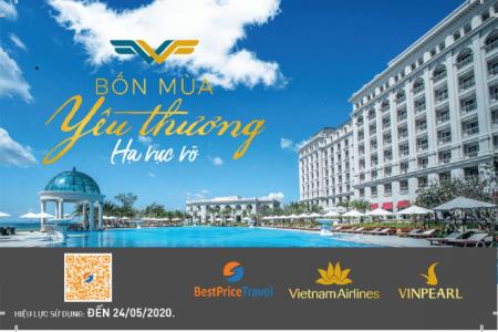 Voucher Hè Rực Rỡ 3N2Đ: Phòng Vinpearl + Vé máy bay Vietnam Airlines