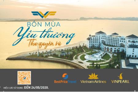 Voucher Thu Quyến Rũ 3N2Đ cho 2 người: Phòng Vinpearl + Vé máy bay Vietnam Airlines
