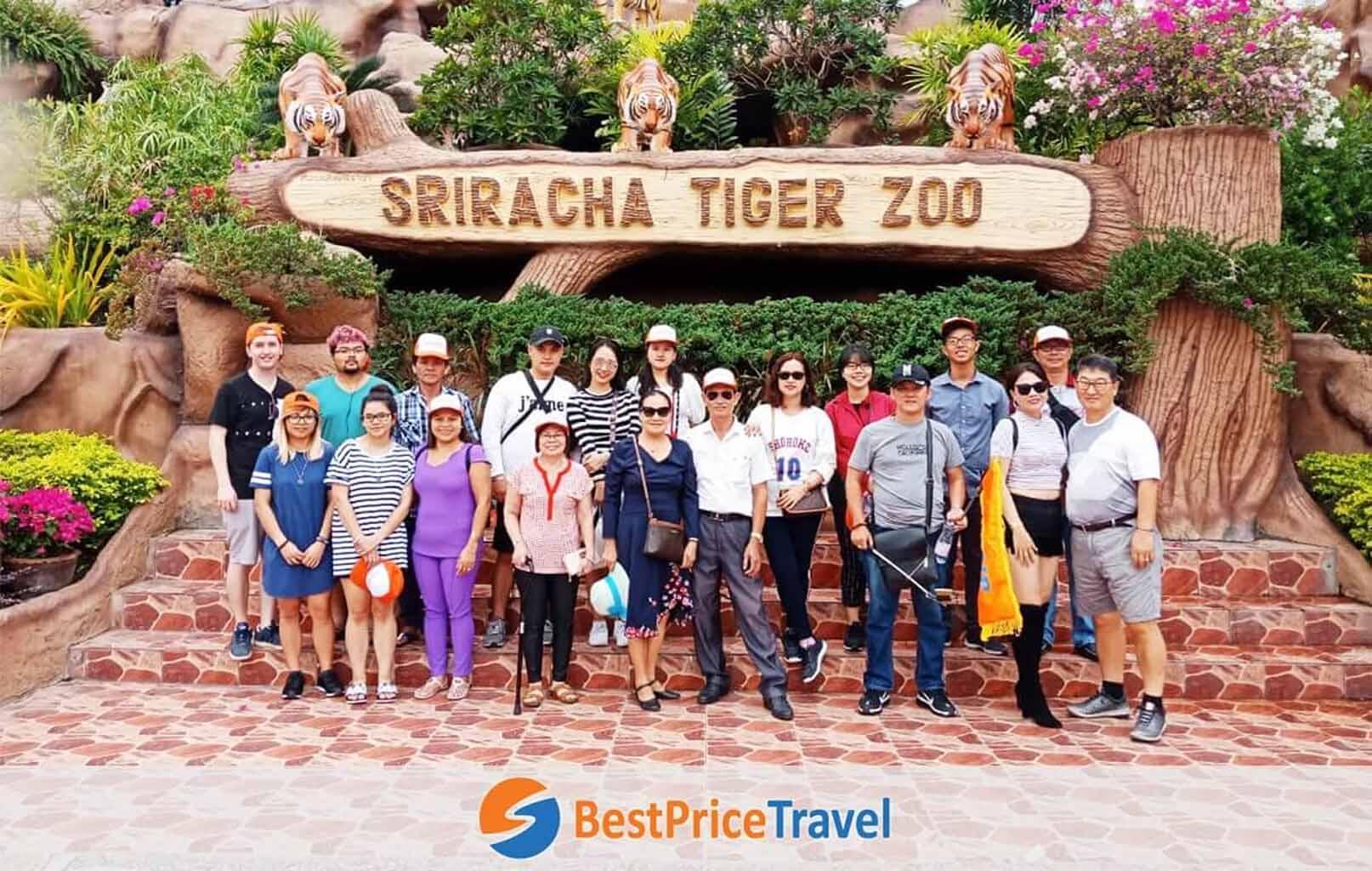 Tham quan Trại Hổ Sriracha Tiger Zoo