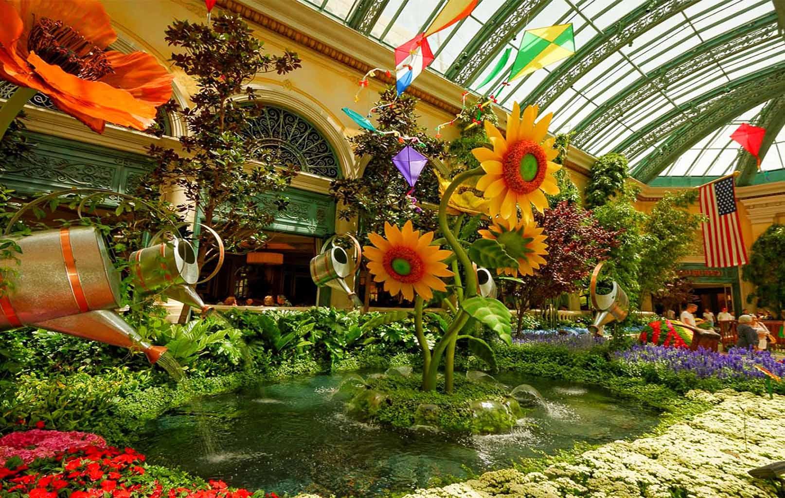 Vườn hoa trong Khách sạn Bellagio